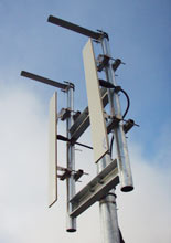 Close up of antenna array used in BCL's Extend broadband network